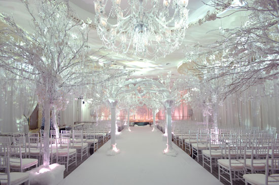 Winter wonderland wedding preston bailey glitz amp bells