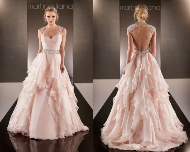 Martina Liana Blush Pink Wedding Dress