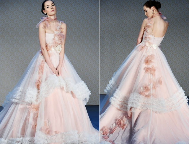 Pale Pink Wedding Dress
