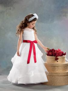 floor-length-sheer-crew-neck-a-line-tiered-skirt-flower-girl-dress-ribbon-sash-1
