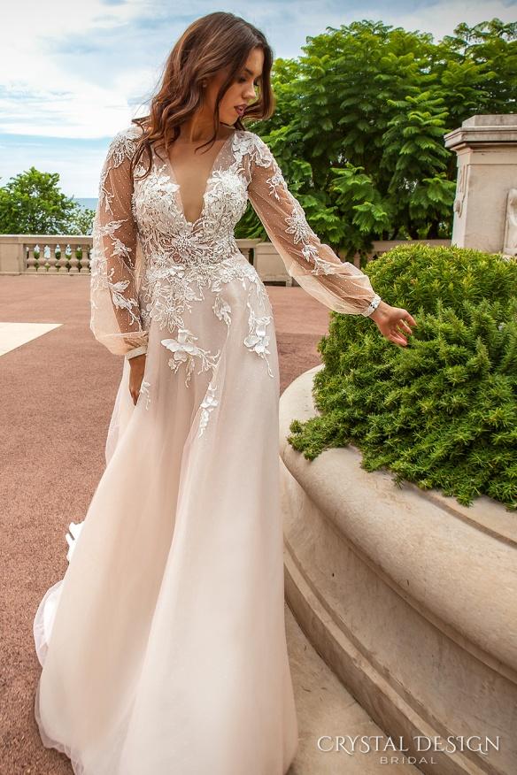 crystal-design-2017-bridal-long-sleeves-cuff-bishop-deep-v-neck-heavily-embellished-bodice-romantic-a-line-wedding-dress-sheer-back-chapel-train-alison-mv