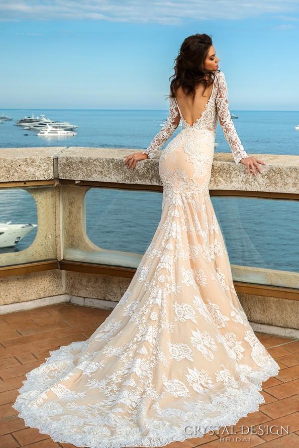 crystal-design-2017-bridal-long-sleeves-deep-sweetheart-neckline-full-embellished-bodice-ivory-color-elegant-glamorous-fit-and-flare-mermaid-wedding-dress-keyhole-back-chapel-train-rian-