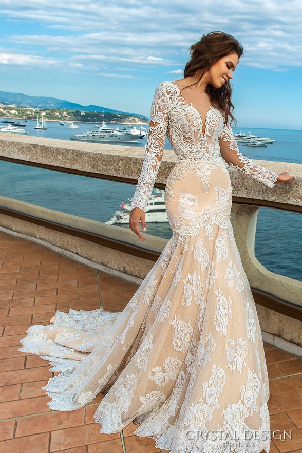 crystal-design-2017-bridal-long-sleeves-deep-sweetheart-neckline-full-embellished-bodice-ivory-color-elegant-glamorous-fit-and-flare-mermaid-wedding-dress-keyhole-back-chapel-train-rian-